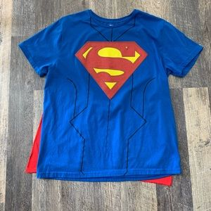Superman Men's Tee Shirt XL/XLT with cape